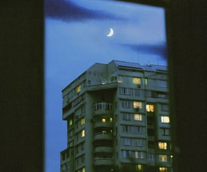 moon, blue, and grunge image