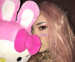 bunny, hello kitty, and pink image