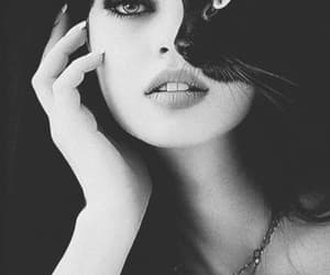 beauty, woman, and dark image