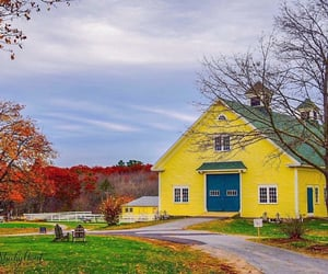 autumn, barn, and country living image