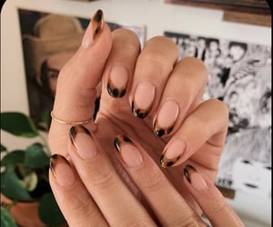 brown, leopard, and nails image