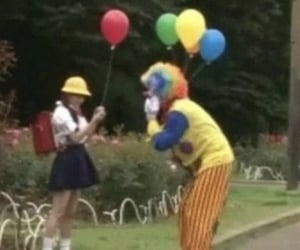 aesthetic, clown, and theme image