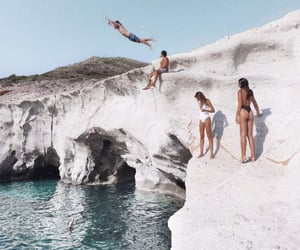 blue, jump, and paradise image