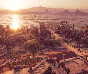 buildings, assassin's creed, and Greece image