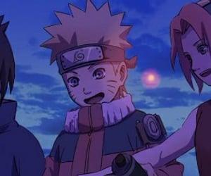sakura, sasuke, and konoha image