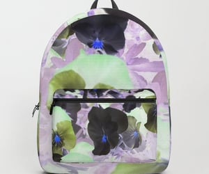 backpack, nature, and flowers image