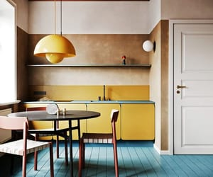 design, kitchen, and yellow image