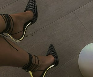 black, fancy, and high heels image