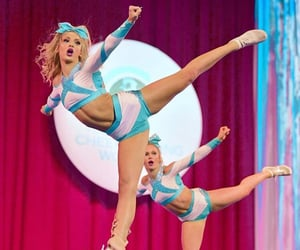 cheer, cheerleader, and flexibility image