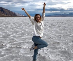 california, death valley, and girl image