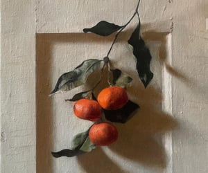 art, orange, and painting image