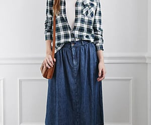 fitted plaid shirt womens image