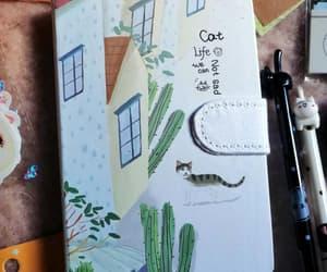 cat, journaling, and pastel image