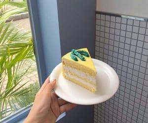 cake, food, and yellow image