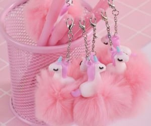 pink and unicorn fluffy pens image