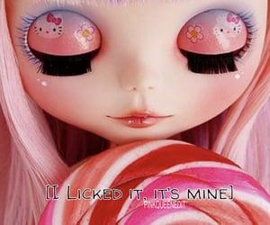blythe doll, lollipop, and pink image