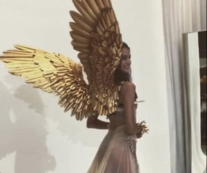 angel, model, and wings image