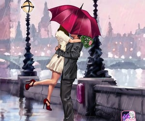 draw, hug, and romantic image