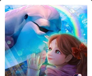 dolphin, draw, and girl image