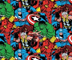 Hulk, ironman, and stitched image