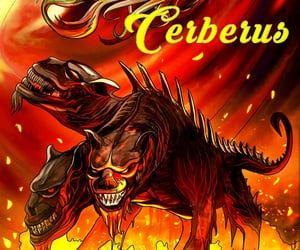 cerberus, mythology, and draw image