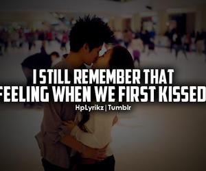 love, kiss, and quote image