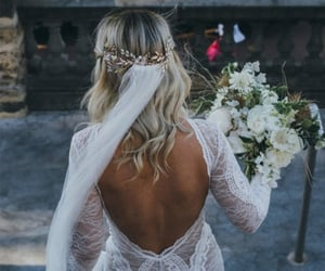 backless, flowers, and lace image