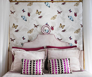 butterflies, pillows, and prints image