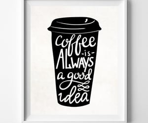 coffee addict, funny gift, and coffeequote image