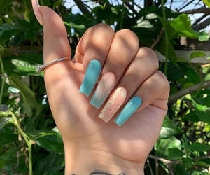 nails, beauty, and blue image