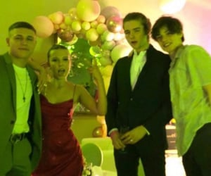 millie bobby brown and louis partridge image