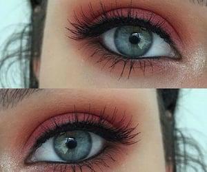 dark, glitter, and lashes image