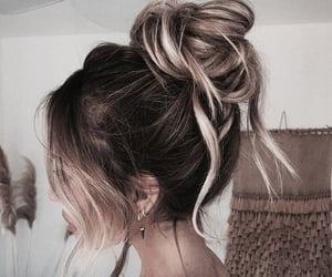 aesthetic, bun, and hairstyle image
