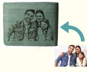 etsy, men gift, and leather wallet image