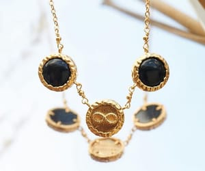 boho, jewelry, and gold necklace image