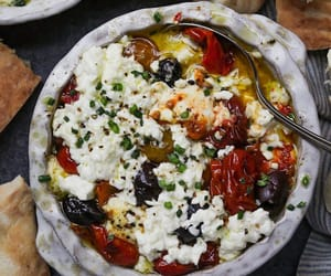 bake, feta cheese, and grape tomato image