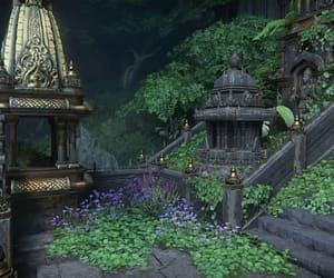 gray, ruins, and green image