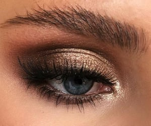 beauty, blue, and brow image