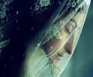 bride, moon, and veil image