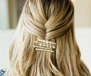 blonde, bobby pin, and boho image