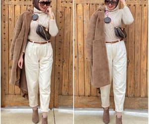 furry vests, teddy bear coats, and fur coat hijab image
