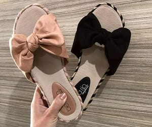 black, shoes, and bow image