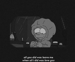 black, sad, and text image