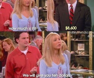 chandler bing, funny, and money image