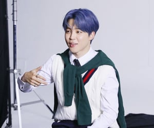 blue hair, version 4, and bts image