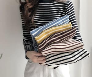 blouse, striped, and slim image