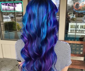 beauty, hair color, and blue image