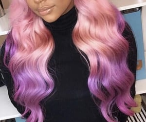 colorful hair, hair style, and long hair image