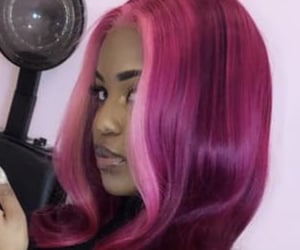 beauty, hair color, and colorful hair image
