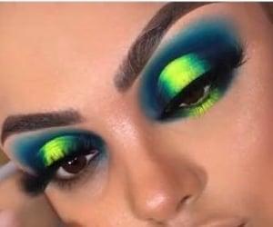beauty, colorful eyeshadow, and eyebrows image